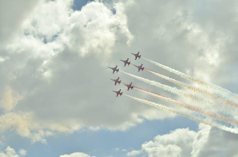 Aeronautic festival istanbul XXIV royalty free stock photo