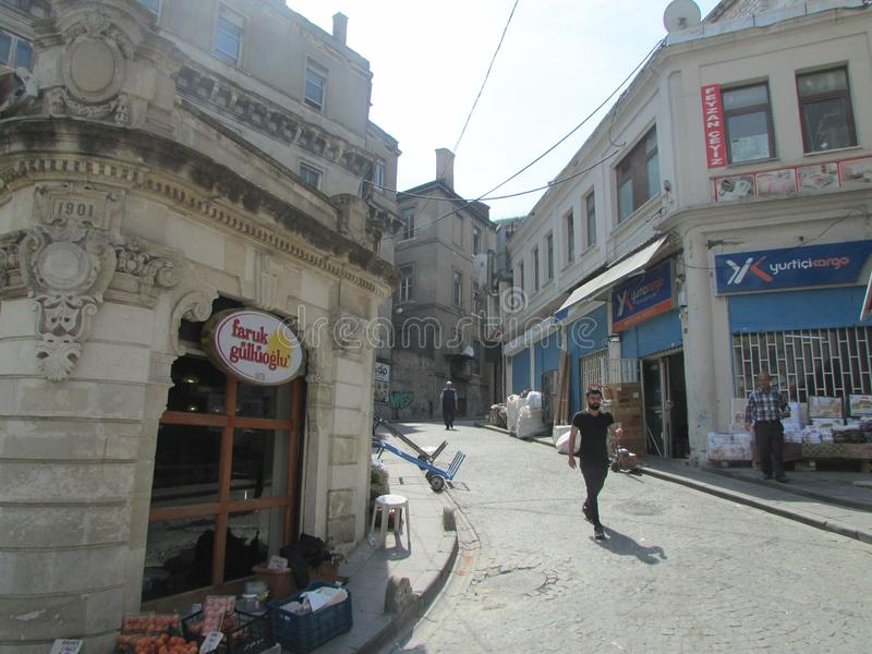 Istanbul, Turkey, streets and unusual houses in the old city. royalty free stock image