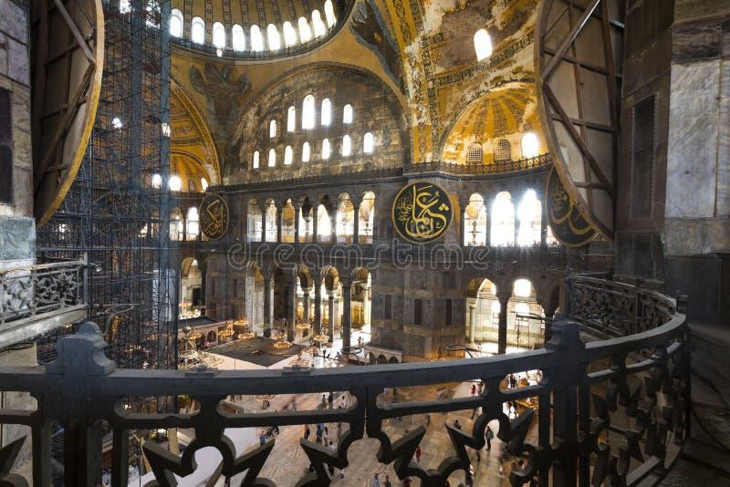 ISTANBUL TURKIET - AUGUSTI 20, 2018: Hagia Sophia Hagia Sofia, A royaltyfri bild