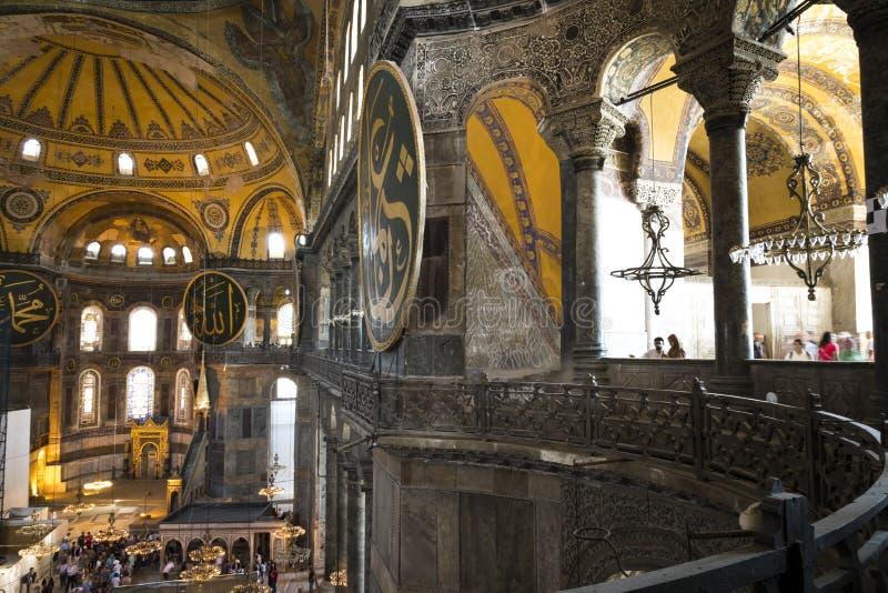 ISTANBUL TURKIET - AUGUSTI 20, 2018: Hagia Sophia Hagia Sofia, A arkivbilder
