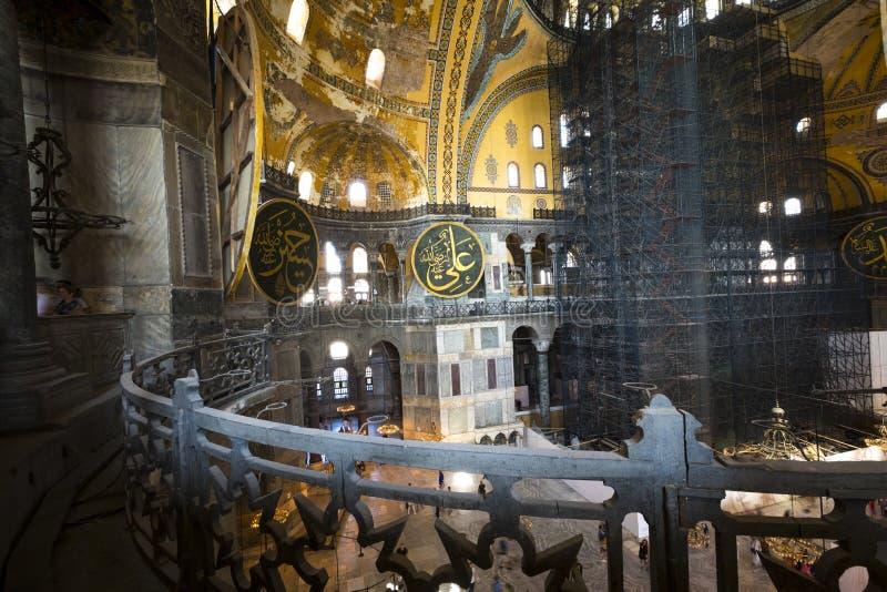ISTANBUL TURKIET - AUGUSTI 20, 2018: Hagia Sophia Hagia Sofia, A royaltyfri fotografi