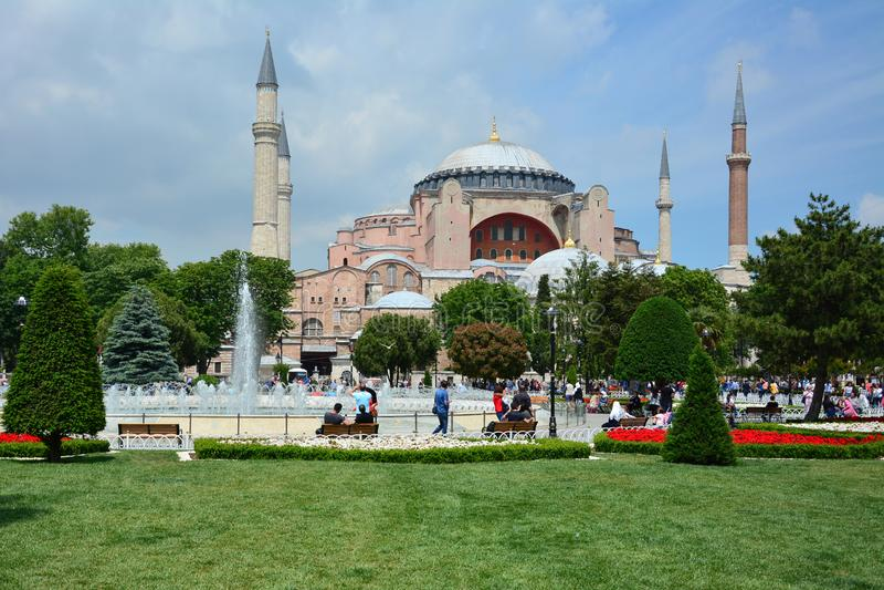 Istanbul Turkiet Hagiaen Sophia royaltyfri bild