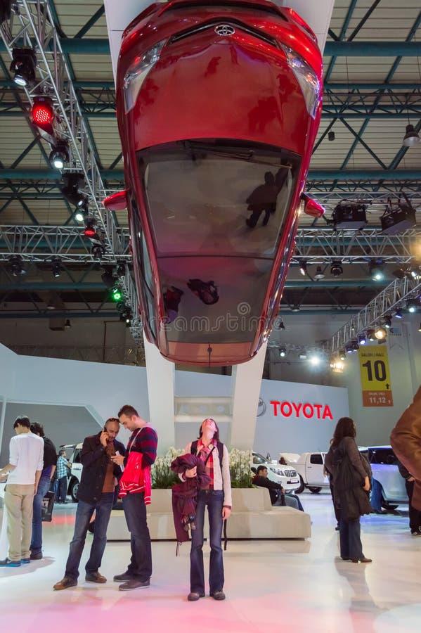 Istanbul Turkiet - November 10, 2012: Istanbul auto show 2012 på TUYAP royaltyfri bild