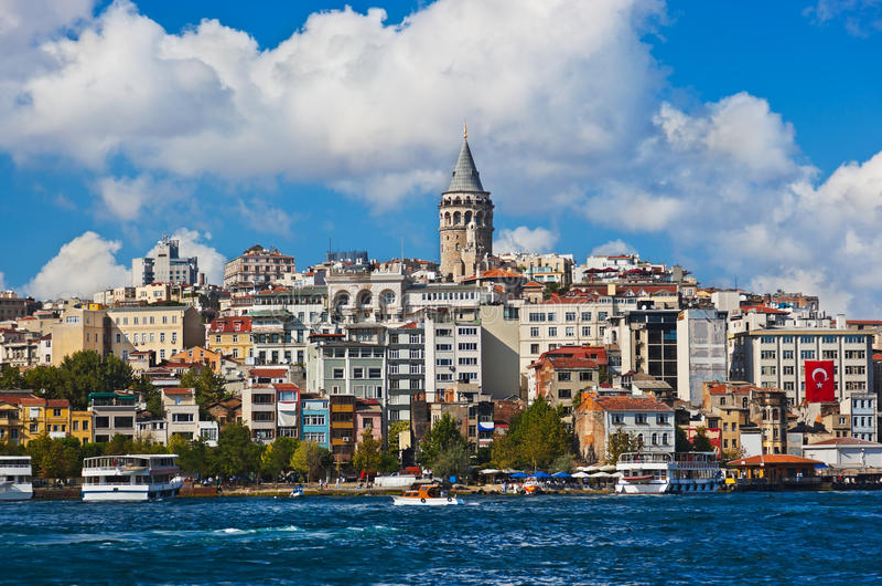 Istanbul Turkiet sikt royaltyfri bild