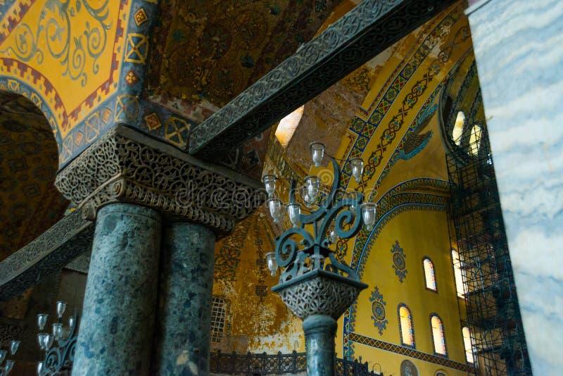 ISTANBUL, TURQUIE : Intérieur de Hagia Sophia Hagia Sophia est le plus grand monument de la culture bizantine photographie stock