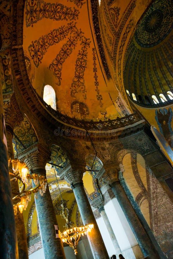ISTANBUL, TURQUIE : Intérieur de Hagia Sophia Hagia Sophia est le plus grand monument de la culture bizantine photos libres de droits