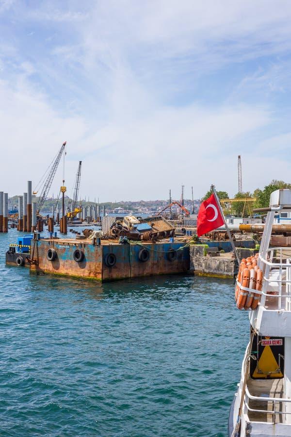 ISTANBUL, TURQUIE, le 8 mai 2017 - nouveaux Galataport cruis d'Istanbul's images libres de droits