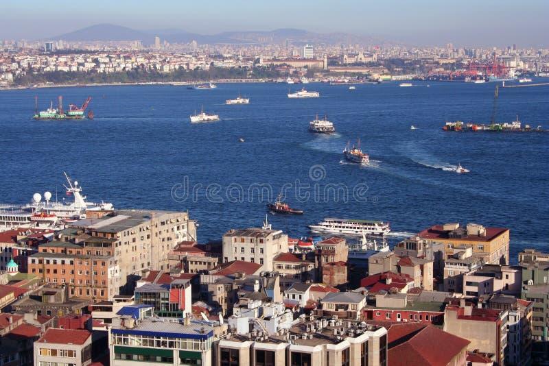Istanbul und Bosporus lizenzfreies stockbild