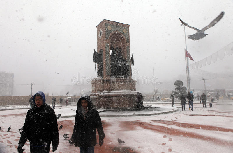 Download Istanbul under Snow editorial image. Image of snowing - 28674735