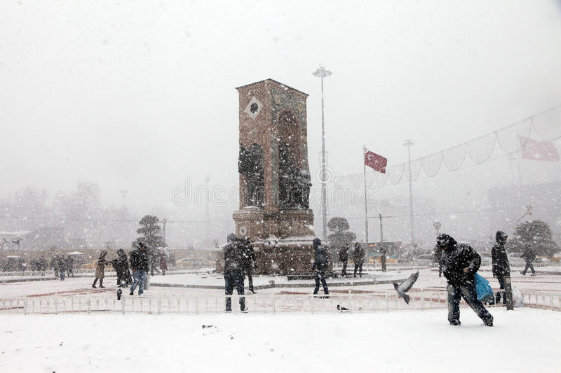 Download Istanbul under Snow editorial photo. Image of cold, taksim - 28708281