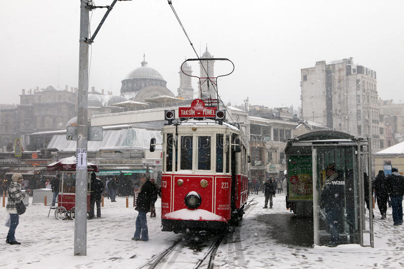 Download Istanbul under Snow editorial stock photo. Image of turkey - 28708378