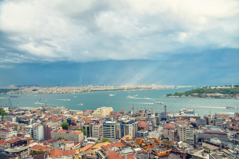 Istanbul view from abover stock images