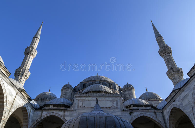 Istanbul. View from Suleymaniye Mosque built by the legendary Ottoman Sultan Suleiman the Magnificent overlooking the Golden Horn, Istanbul royalty free stock image