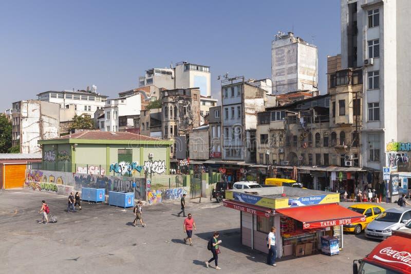 Istanbul, vue de rue de Karakoy photo libre de droits