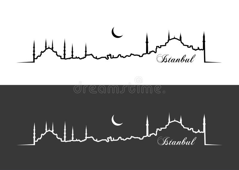 Istanbul wallpaper stock illustration