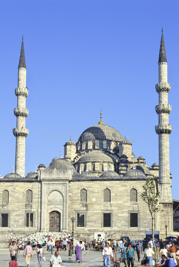 Istanbul Yeni mosque stock images