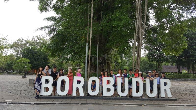 Istantanea della gente di Borobodur fotografia stock libera da diritti