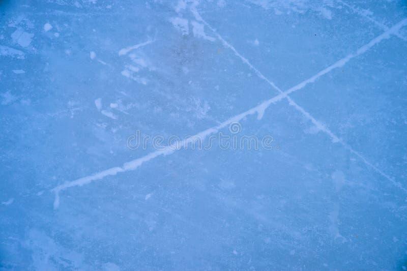 Istextur på utomhus- isbana arkivbild