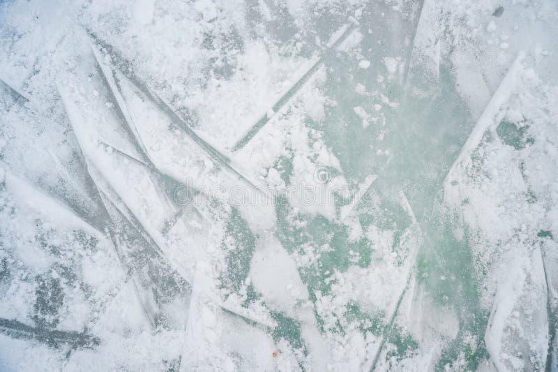 Istextur på utomhus- isbana fotografering för bildbyråer