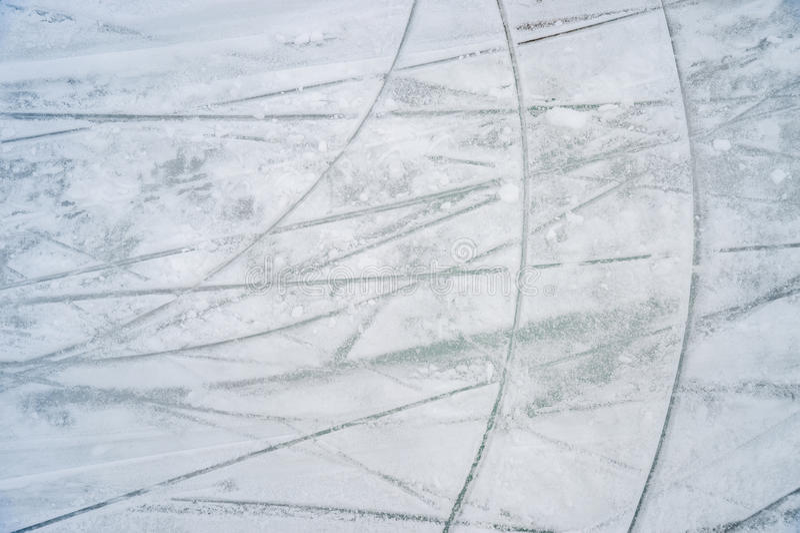 Istextur på utomhus- isbana arkivbilder