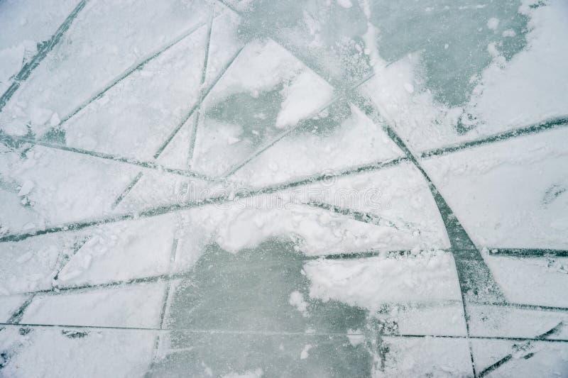 Istextur på utomhus- isbana arkivfoton