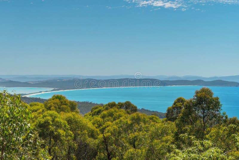 Isthmus auf Bruny-Insel, Tasmanien lizenzfreie stockfotografie