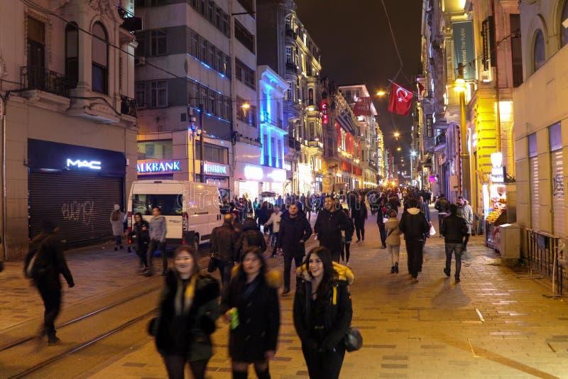 Istiklal Street Beyoglu Istanbul. Istiklal Street People Beyoglu Istanbul, Turkey royalty free stock photos