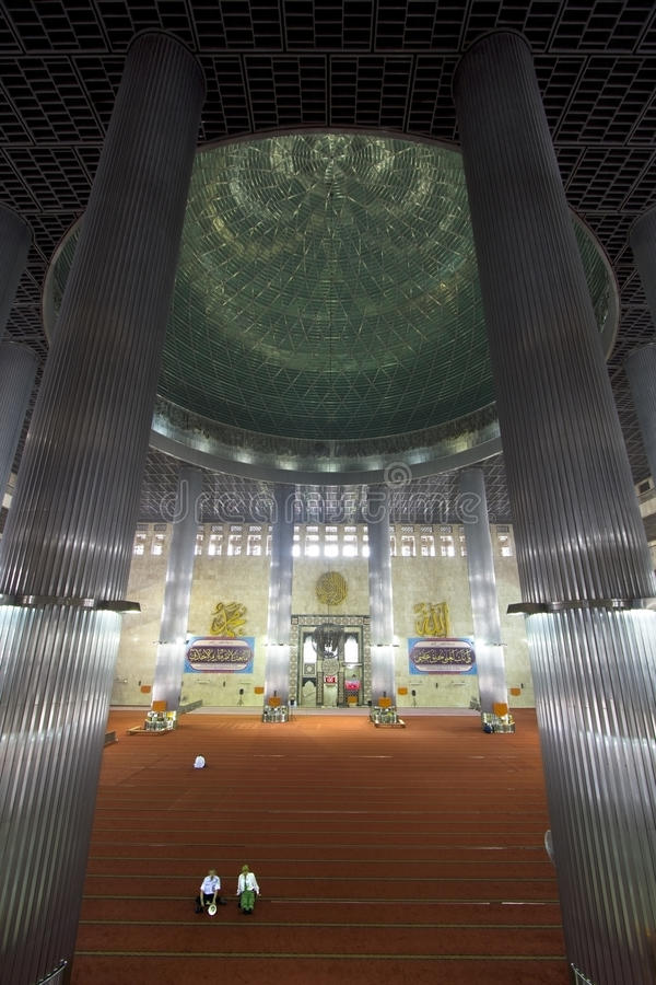 Istiqlal mosque, jakarta, indonesia. Forth biggest in the world royalty free stock image