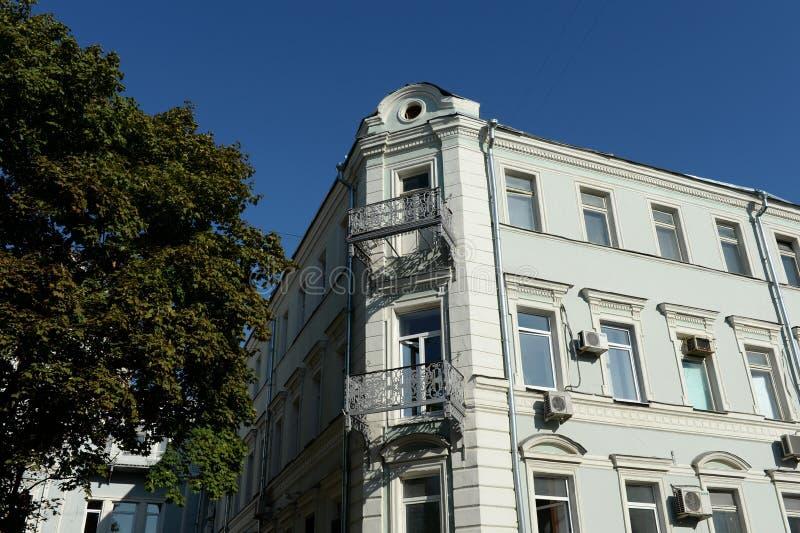 Istituto degli studi orientali sull'accademia delle scienze russa Precedente condominio A n Pribylova sulla via di Rozhdestvenka  fotografia stock