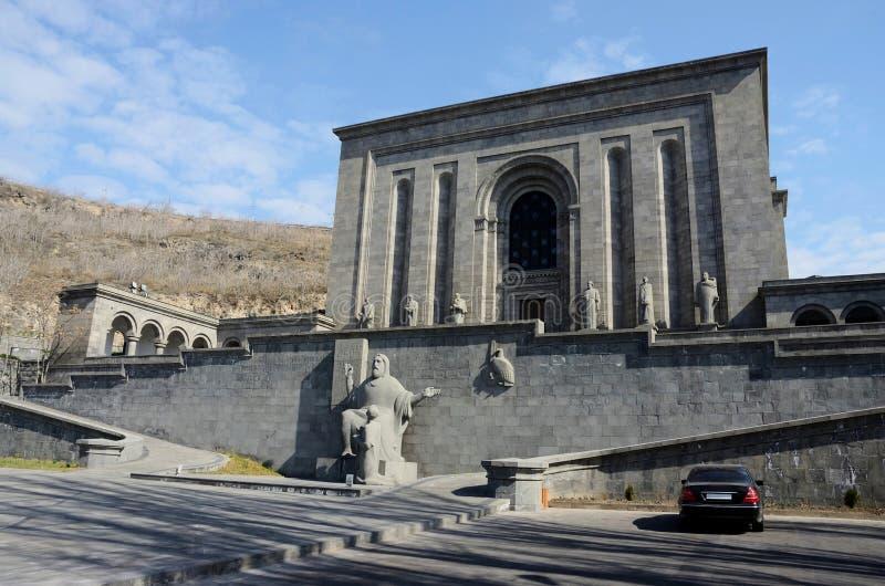 Istituto dei manoscritti antichi, Yerevan di Mesrop Mashtots immagini stock libere da diritti