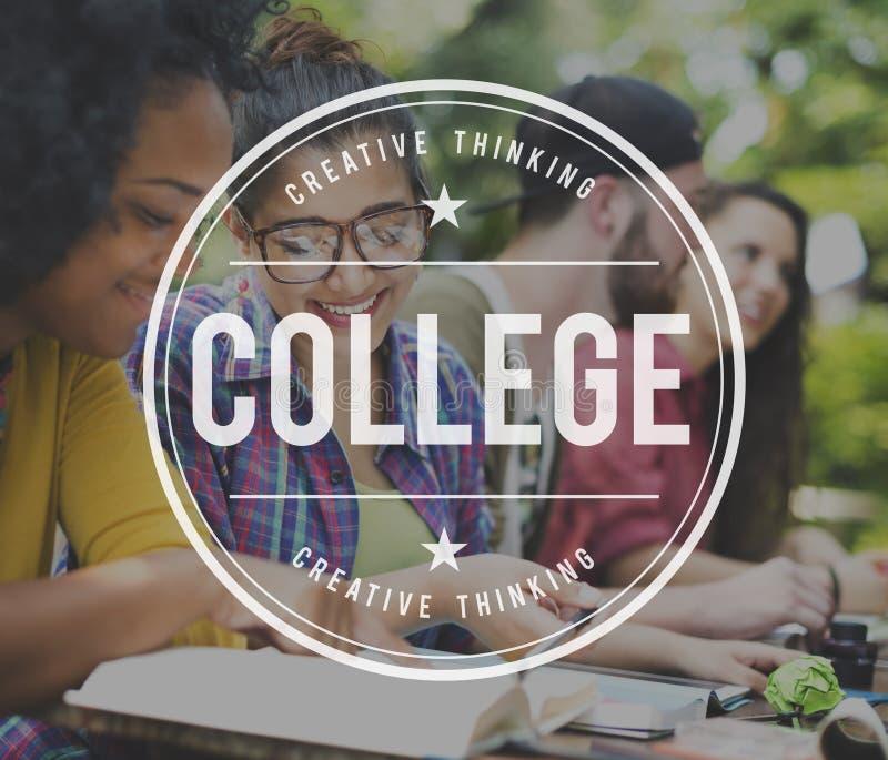 Istituto universitario che impara concetto di studio dell'università immagini stock libere da diritti