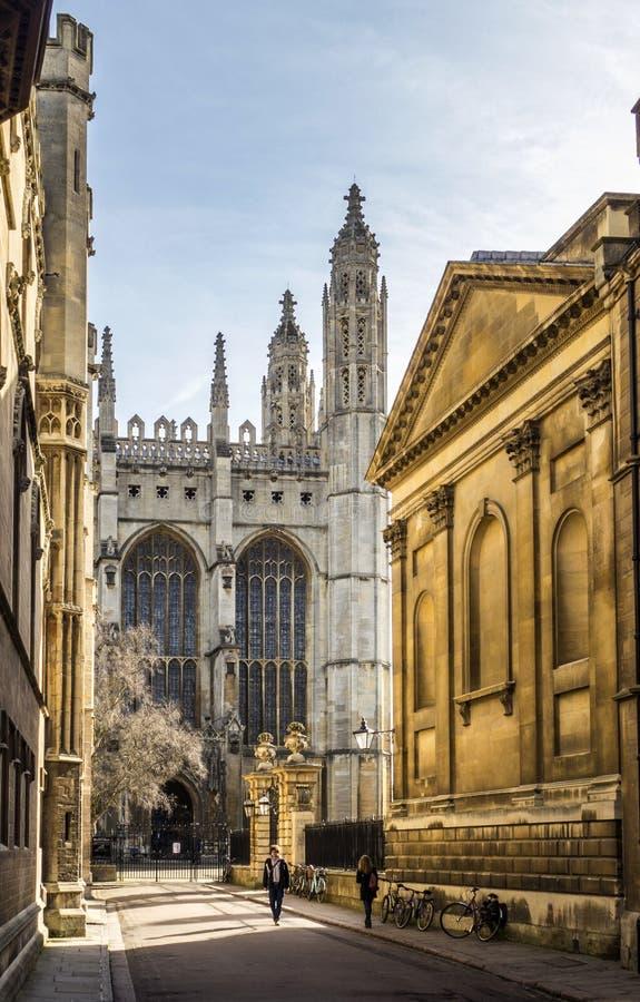 Istituto universitario del ` s di re a Cambridge, Inghilterra immagini stock libere da diritti