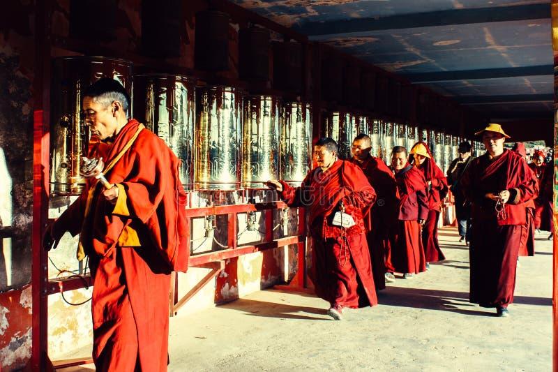 Istituto universitario di buddhism di Seda Larong Wuming fotografia stock