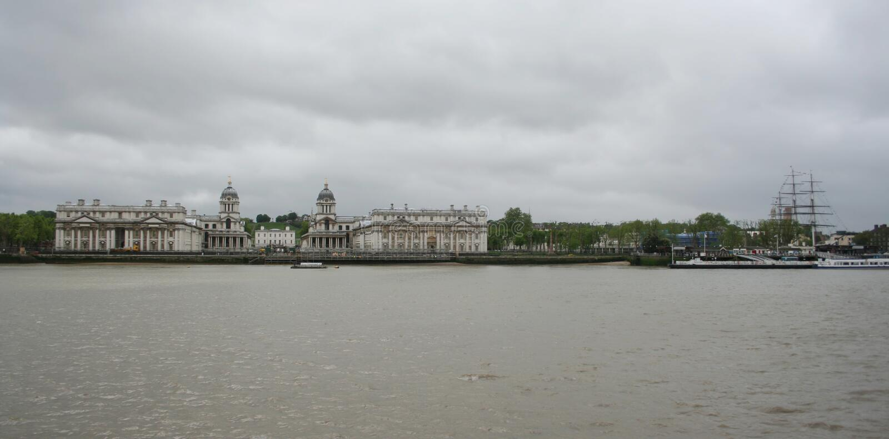 Istituto universitario e Cutty navali reali Sark, Greenwich fotografia stock libera da diritti