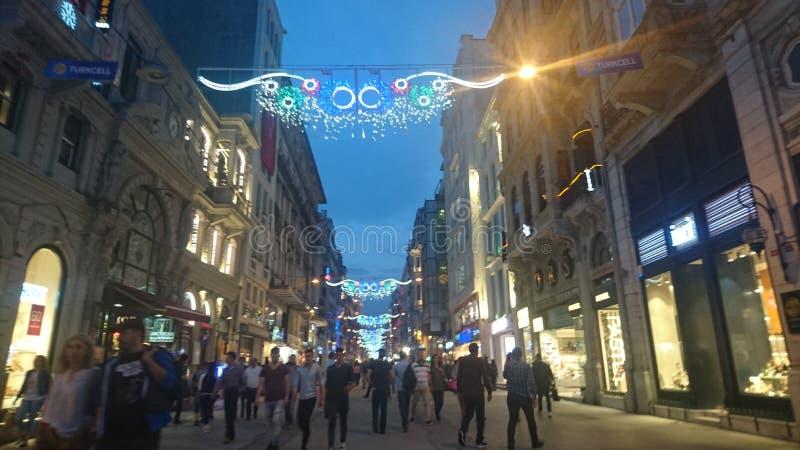 Istklalstraat Istanboel royalty-vrije stock foto