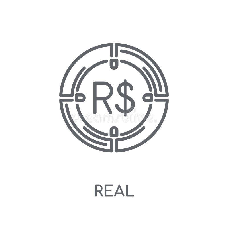 Istna liniowa ikona Nowożytnego konturu logo Istny pojęcie na bielu plecy royalty ilustracja