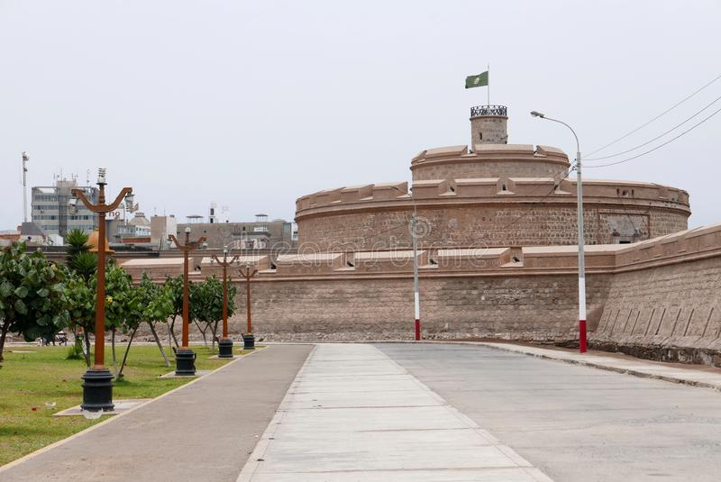 Istny Felipe forteca i jawny park w Callao, Peru zdjęcie royalty free