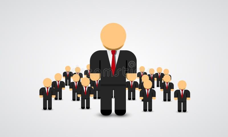 Istny lider - Biznesowy mężczyzna w tłumu również zwrócić corel ilustracji wektora royalty ilustracja