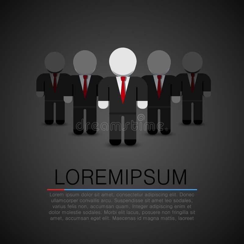 Istny lider - Biznesowy mężczyzna w tłumu również zwrócić corel ilustracji wektora ilustracji