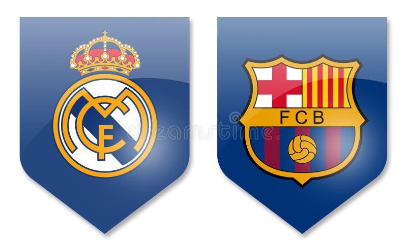 Istny Madrid vs Barcelona royalty ilustracja