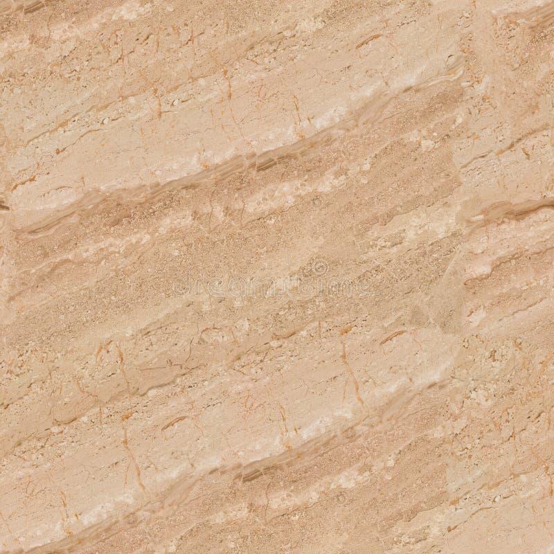 Istny naturalny marmurowy beżu kamienia powierzchni tło Bezszwowy squ zdjęcia stock