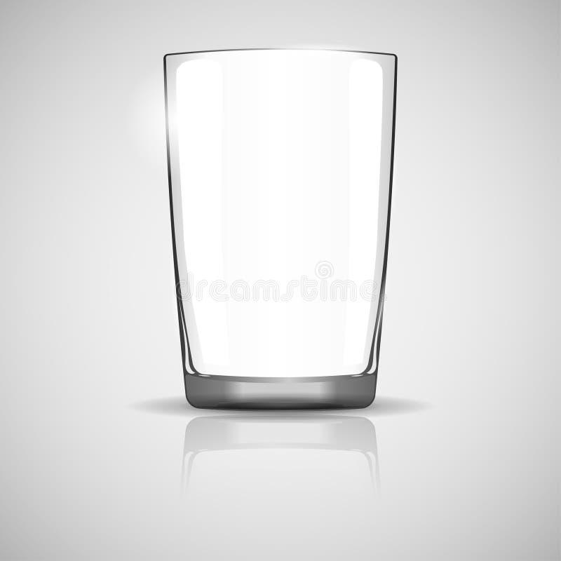 istny szklany glassful z cieniem ilustracji