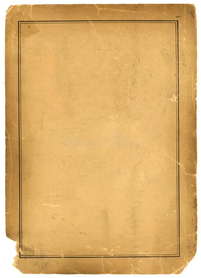 1800s Pergaminowego papieru tła Antykwarska tekstura zdjęcie stock