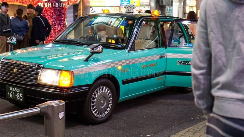 Isto é como o táxi de Japão olha como imagem de stock