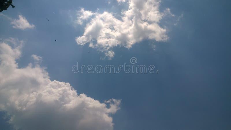 Isto é nuvem na minha cidade sragen indonésia fotografia de stock royalty free
