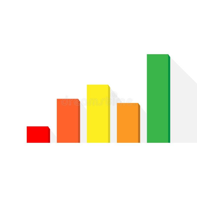 Istogramma e modelli del grafico lineare, infographics di affari, illustrazione di vettore eps10 illustrazione di stock