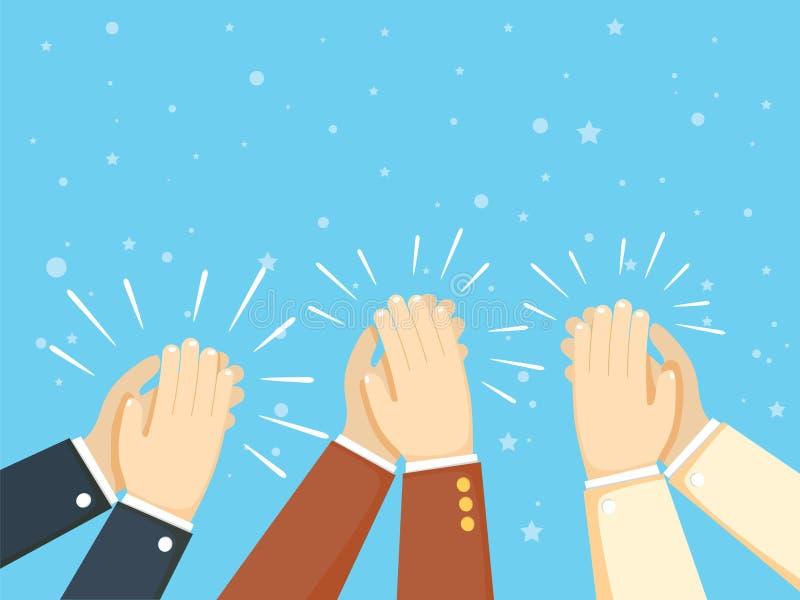 Istot ludzkich ręk Klaskać oklaskuje ręki również zwrócić corel ilustracji wektora ilustracja wektor