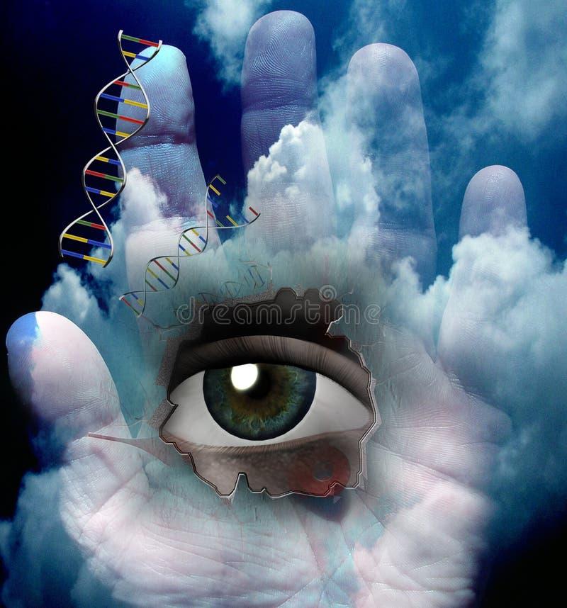 Istota ludzka Genetyczna ilustracji
