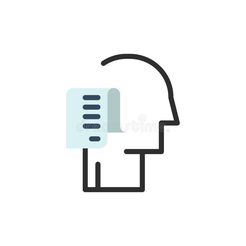 Istota ludzka, lista, osoba, rozkład, zadanie koloru Płaska ikona Wektorowy ikona sztandaru szablon ilustracji