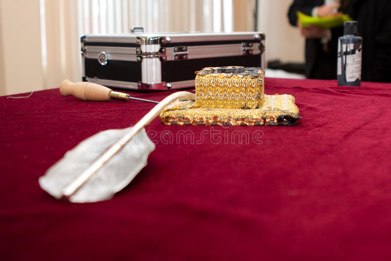 Istotni narzędzia dla pisać listach w Torah zdjęcia royalty free